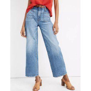 Madewell Wide Leg Crop Jeans High Rise Blue 28